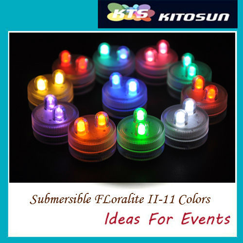 Valentine's Day Wedding Christmas Party Wholesale 100pcs/pack LED COLORFUL DOUBLE  SUBMERSIBLE Floralyte II Lights