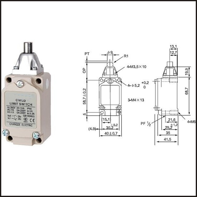 Switch travel limit switch 15A 380V  Electrical Safety Key Interlock switch  Compact Prewired micro switch  WLD