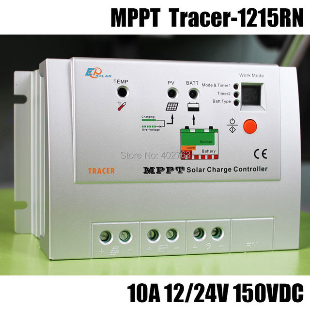 Tracer-1215RN MPPT 10A 150V solar charge controller for solar home system, outdoor lighting, signals, RVs and boats