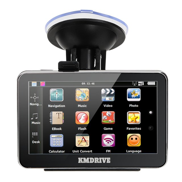 """KMDRIVE 4.3"""" inch TFT-LCD Touch Screen  4GB 8GB Car GPS Navigation Navigator with Multimedia Player /FM Radio /TF Slot"""