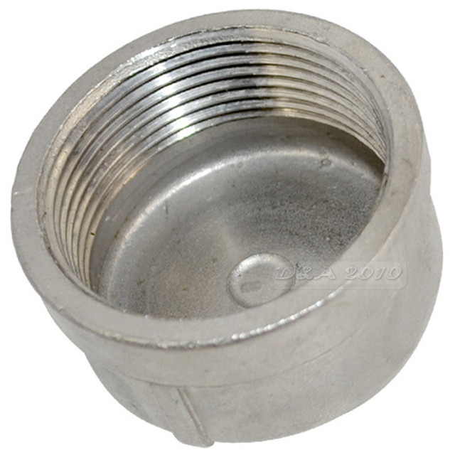 "MEGAIRON BSPT 1-1/2"" DN40 Pipe Cap Female Stainless Steel SS304 Threaded Pipe End Cover Cap For Pipe"