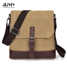 Manjianghong Hot Selling Men's Crossbody Bags New Canvas Shoulder Bag Casual Daily Canvas Messager Bags Mini Boutique Packages