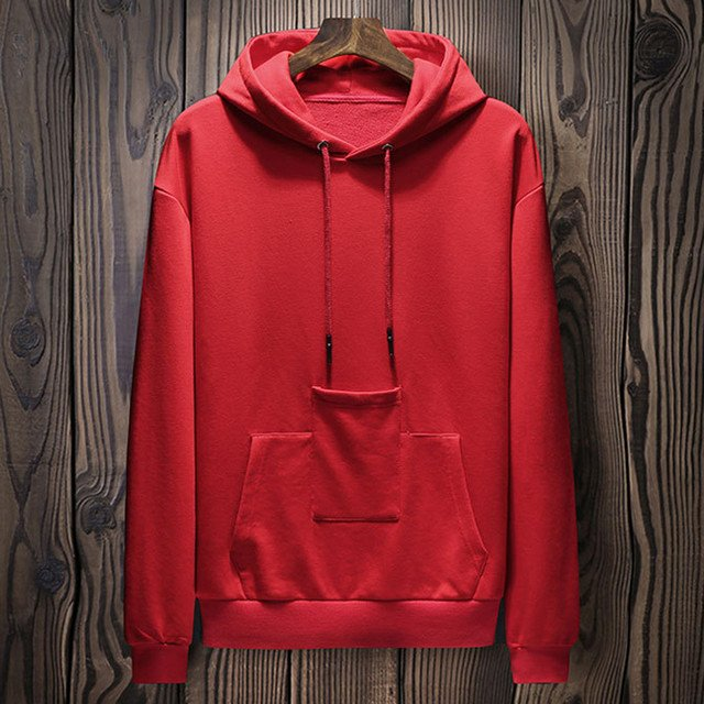 2018 Autumn Winter Men's Hoodies Fashion Solid Casual Hooded Sweatshirt Blouse Tops Pocket Male Loose Pullover