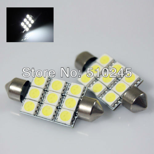 100X C5W Car led festoon 31mm 36mm 39mm 41mm light 5050SMD 9 LED SMD 9SMD Auto led LIGHT LAMP bulbs Free shipping