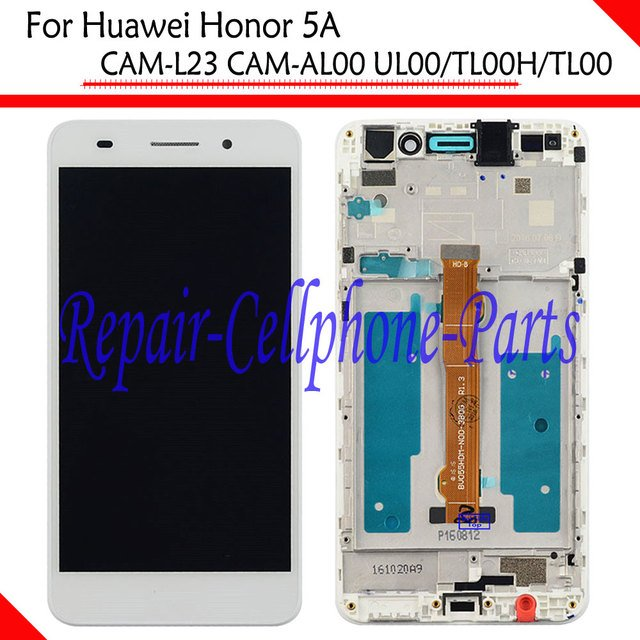 New White Full LCD DIsplay+Touch Screen Digitizer+Frame Cover Assembly For Huawei Honor 5A CAM-L23 / AL00 / UL00 / TL00H / TL00