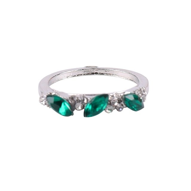 Green Zircon  Color Engagement Rings Wedding Rings Party Rings