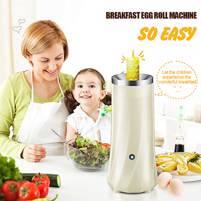 220V Egg Roll Maker Egg Roll Machine Omelette Cooker Creative Durable Hot Dog Breakfast Making Tool