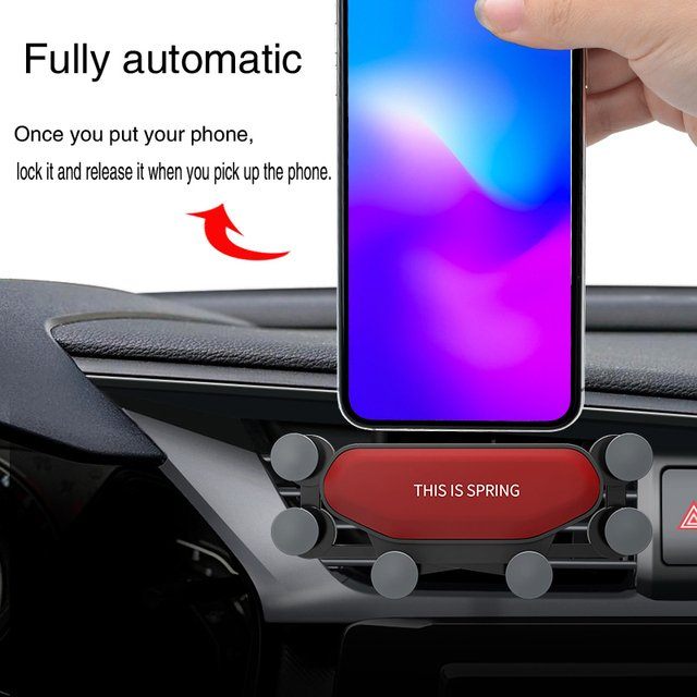 Gravity Car Air Vent Mount Phone Holder for iPhone Xiaomi Samsung  GPS Navigation Mount Holder  Phone in Mobile Cell Phone Stand