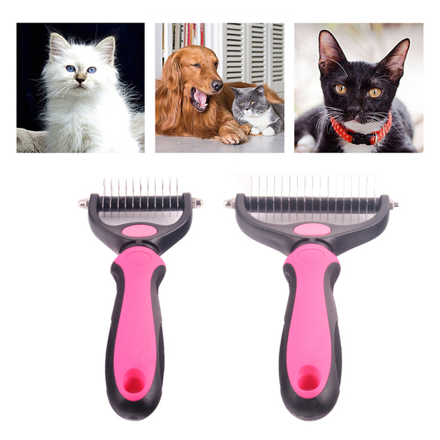 PINH-lang Dog Comb,Pet Dog Cat Comb Wood Handle Hair Trimmer Dog Grooming Cleaning Brush