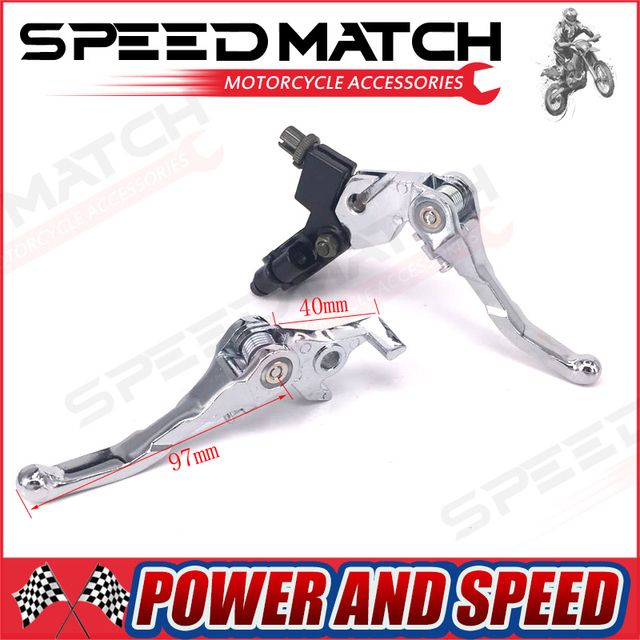 Aluminum Folding Clutch lever Brake Lever Fit CRF IRBIS Apollo Xmotos KAYO BSE Pit Dirt Bike Parts Free Shipping