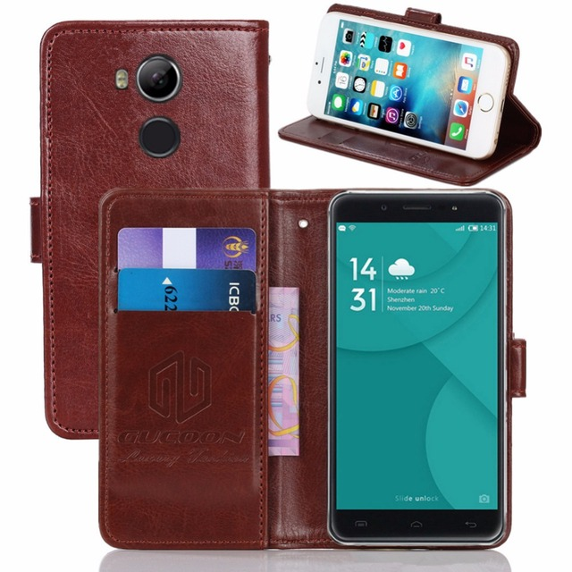 GUCOON Vintage Wallet Case for Doogee F7 5.5inch PU Leather Retro Flip Cover Magnetic Fashion Cases Kickstand Strap