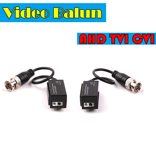 CCTV Accessory CCTV Video Balun Transceiver Twisted 1Channel BNC Passive Transceivers For AHD TVI CVI 720P 1080P Camera