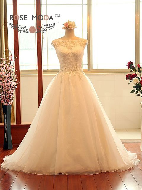 Elegant Princess A Line Wedding Dress with Keyhole Back Illusion Lace Sweetheart Neckline Vestidos de Noiva Real Photos