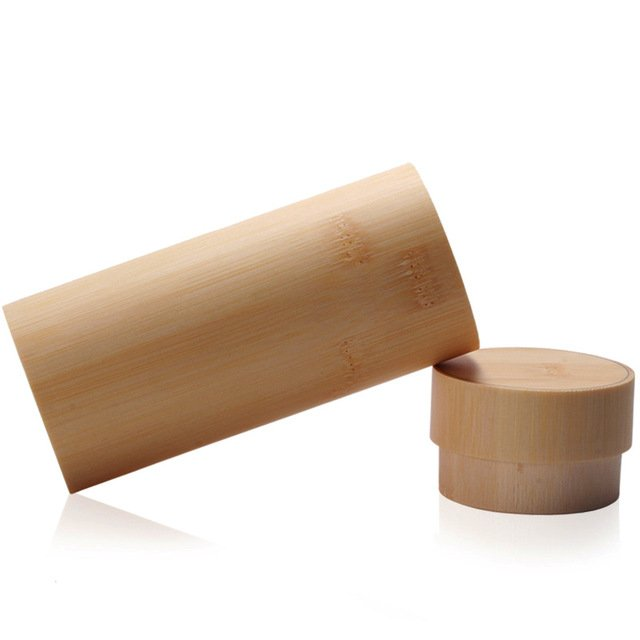 Round Bamboo Sunglasses Case Bamboo Box Gift package Wood Glass Case Can be engraved Logo For Free
