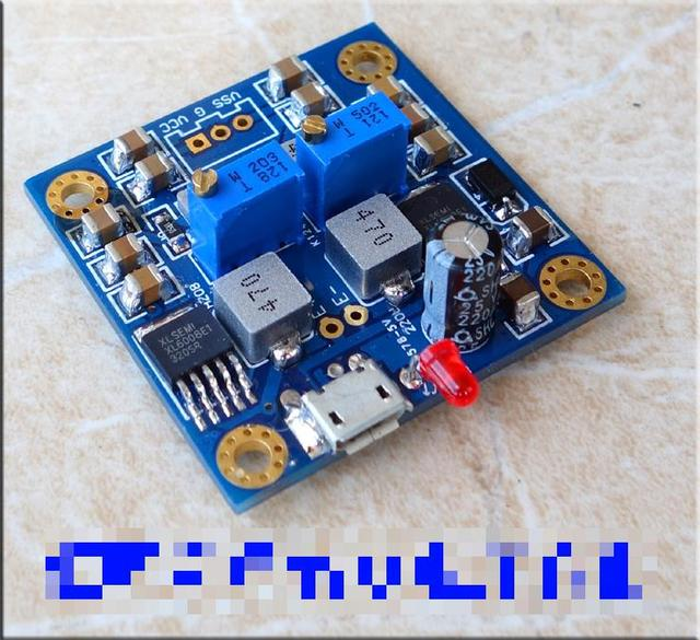 DC12V HIFI  low resistance single voltage to positive and negative power output  Regulated power supply module 41X41MM