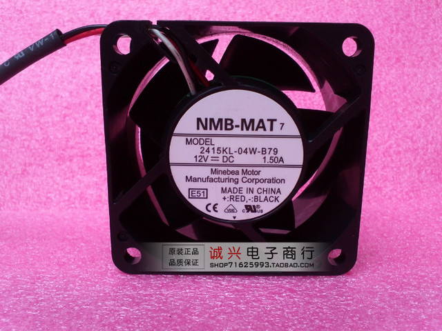 For nmb 6038 2415kl-04w-b79 12v 1.50a6cm cooling fan 60 38mm