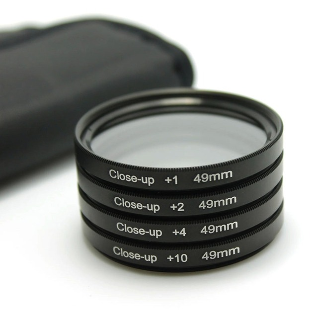 49mm Macro Close-up Close Up +1 +2 +4 +10 Lens Filter Kit for Canon nikon for Sony NEX-3 NEX-5 NEX-6 NEX-7 camera 49 mm lens