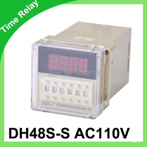 dh48s-s digital time relay ac 110v delay timer relay with socket