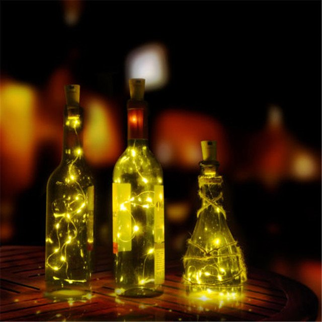 2M 20LEDs Mini LED Holiday String Lights Micro Waterproof Lamp Indoor Wedding for Home Decoration Christmas Glass Craft