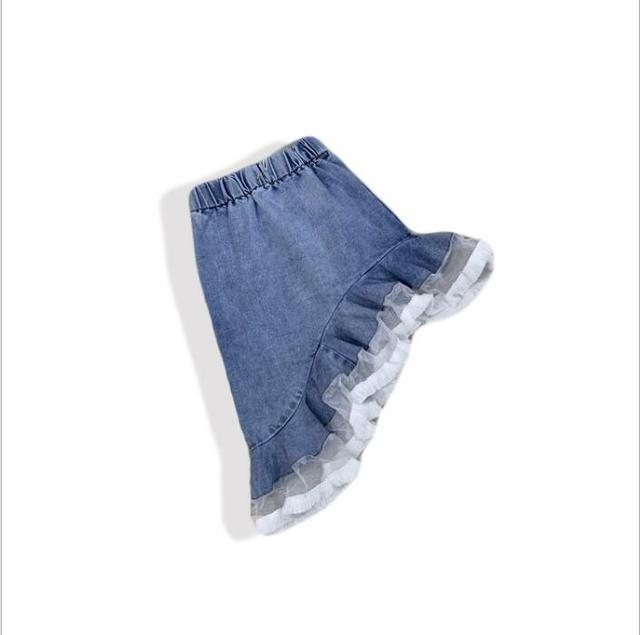 New 2019 Fashion Ruffles Jean Skirts For Girls Baby, Baby Kids Unique Denim Skirt Wholesale 5 pcs/lot, Free Shipping