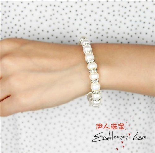 NEW ARRIVAL!!! FREE SHIPPING Freshwater Pearl Bracelet Cheap Jewelry ELASTIC Jewellery Fashion Good Accessory Beaded Bangle
