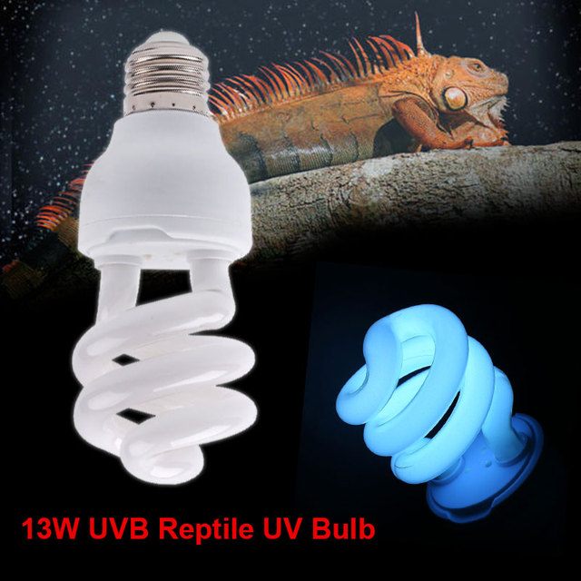Outdoor Reptile Heat Lamp Safety AC 220-240V E27 Bulbs Spiral 13W Light E27 UVB Reptile Industrial Lamp Home hatch pet light