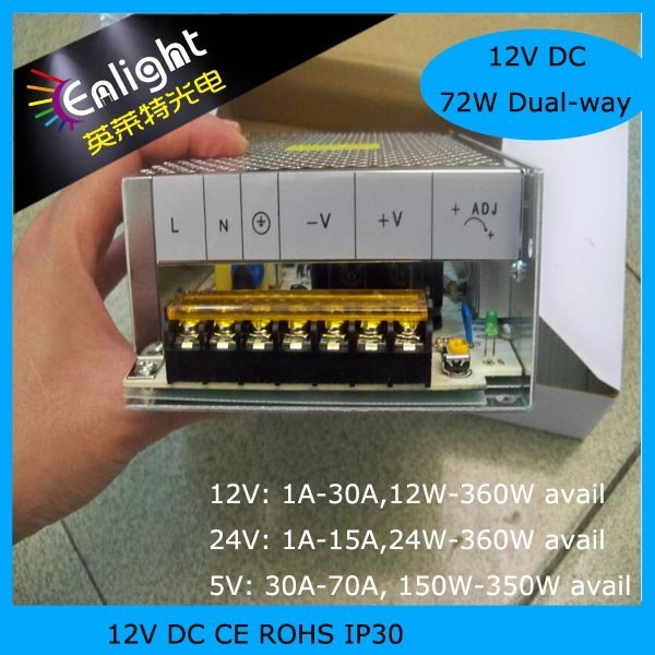 12V 6A 72W switch mode power supply LED display power supply LED Strip power supply  SMPS 5pcs/lot Free shipping!!!