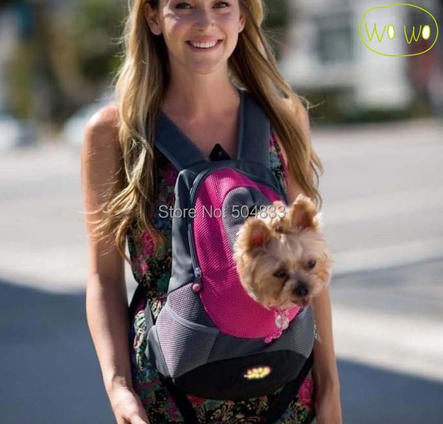 Dogs Backpack Breathable Pets Portable Bag Double-Shoulder Travel Carriage Pet Products New Arrival 5colors S L