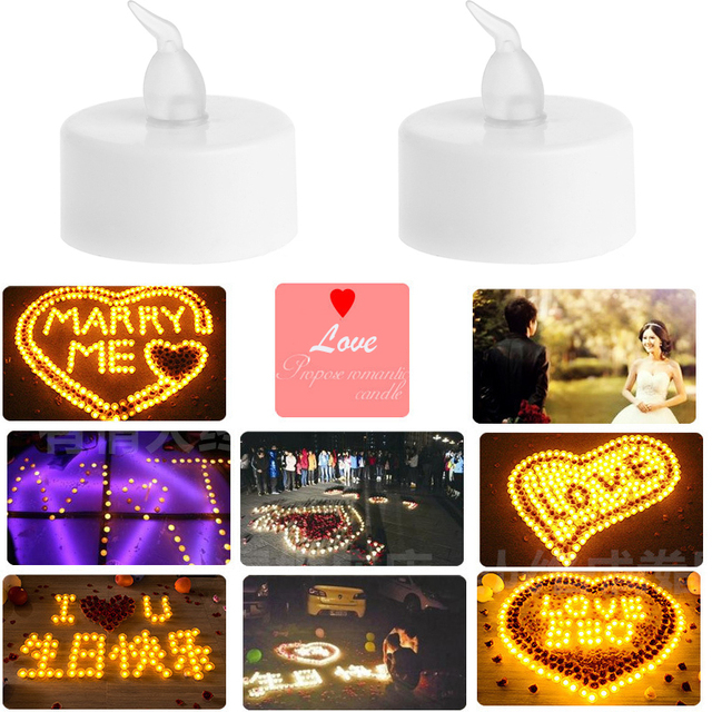 24pcs/lot  LED Tealight Battery Operated Flickering Flicker Flameless Tea Candles Light for Wedding Birthday Party Christmas