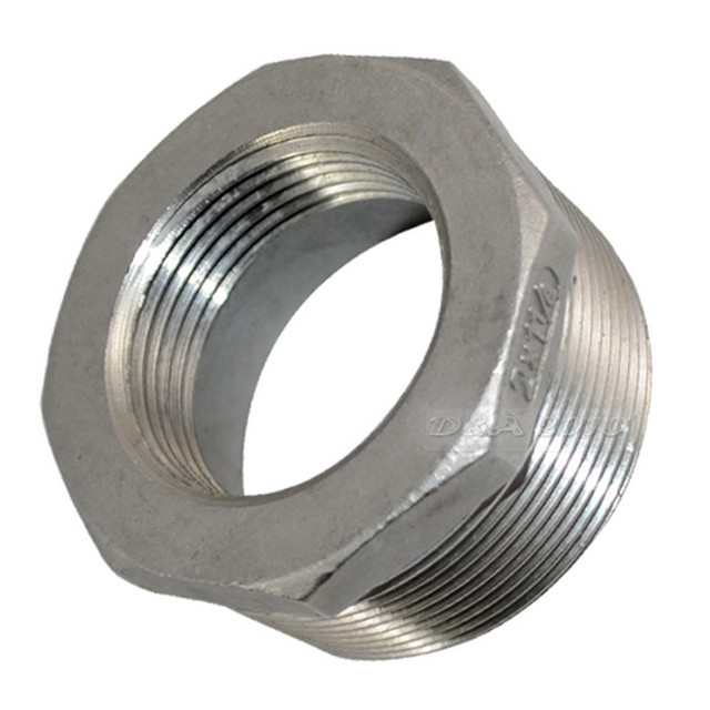"""MEGAIRON 2"""" Male x 1-1/4"""" Female DN50 to DN32 Reducer Bushing BSPT Thread Stainless Steel SS 304 Pipe Fittings For Water Gas Oil"""