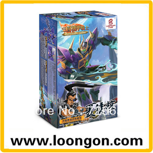 LOONGON Model Building Kit Armoured Sanguo Xia Hou Dun With Weapons Building Model 8007
