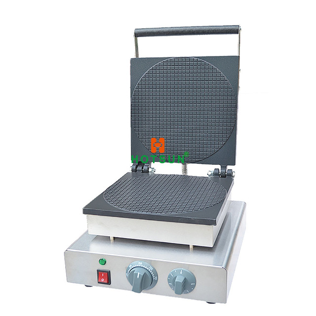 ree Shipping Commercial Nonstick 110v 220v Electric Dutch Stroopwafels Syrup Waffles Maker Iron Machine