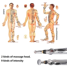 Energy Pen massager Electric meridians Laser Acupuncture Magnet Therapy instrument Heal Massage 2017 Health care monitor