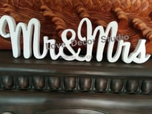 """Free shipping """"MR&MRS"""" Wood Wooden Letters White Alphabet Wedding Party Home Decorations"""