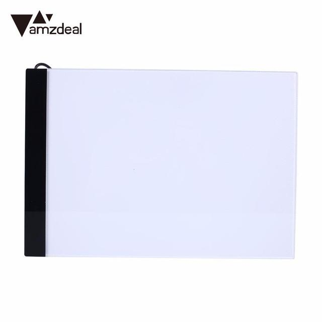 AMZDEAL Professional Drawing Tablet A4 LED Light Pad Tracing Copy Borad Draw Pervious Board Drawing Pad Table