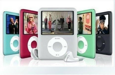 "New 8GB Slim 1.8"" LCD 3th MP4 Player mp3 player, Video, Photo Viewer, eBook, Recorder, Free shipping+Free Gift"