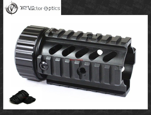 Vector Optics 5.56mm .223 4.4'' Pistol Free Float Handguard Quad Rail Mount System with 4x Cover Guards