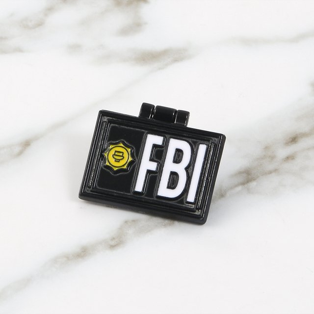 FBI Pins Special Agent Brooches Flip Cover Metal Badges Denim Jackets Bags Hats Backpack Accessories Movie jewelry