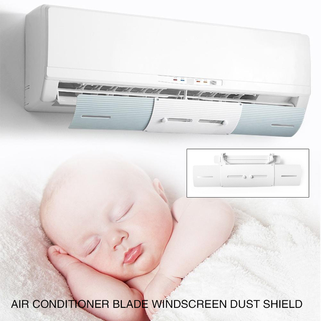 Plastic Windguard Air Conditioner Outlet Shutter Board Retractable Office Air Conditioner Wind Shield Durable