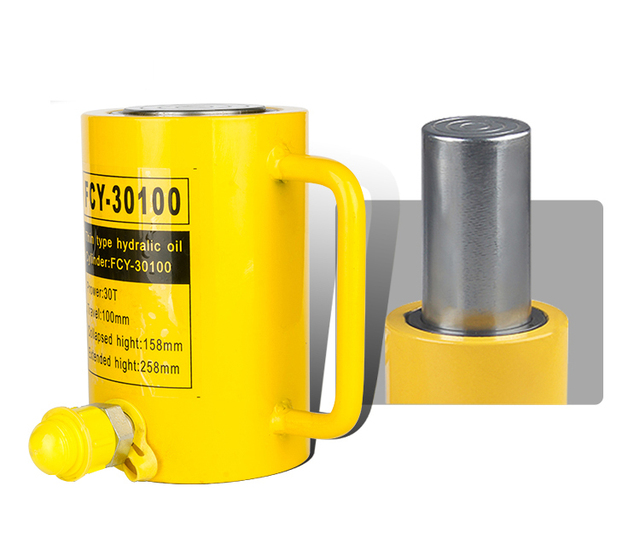 1Pcs Long Type Hydraulic Cylinder FCY-30100 Hydraulic Jack with Output of 30T, Stroke of 100mm