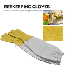Beekeeping gloves Protective Sleeves Ventilated Professional sheepskin and canvas Anti Bee for Apiculture  beekeeping gloves
