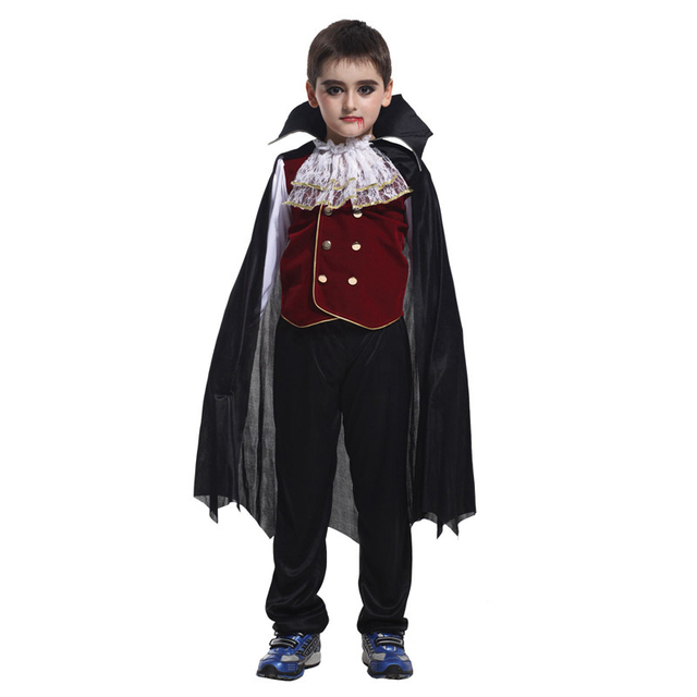Halloween costume for kids vampire Girls Boys Costumes Vampire Queen Prince Cosplay Party Fancy Dress Carnival Purim girl child
