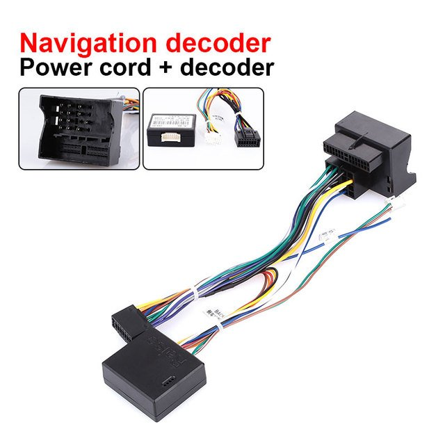 Navigation Agreement Agreement Box Dedicated Navigation Decoder Car Agreement Auto Parts Navigation Line 9 Inches Upgrade ABS