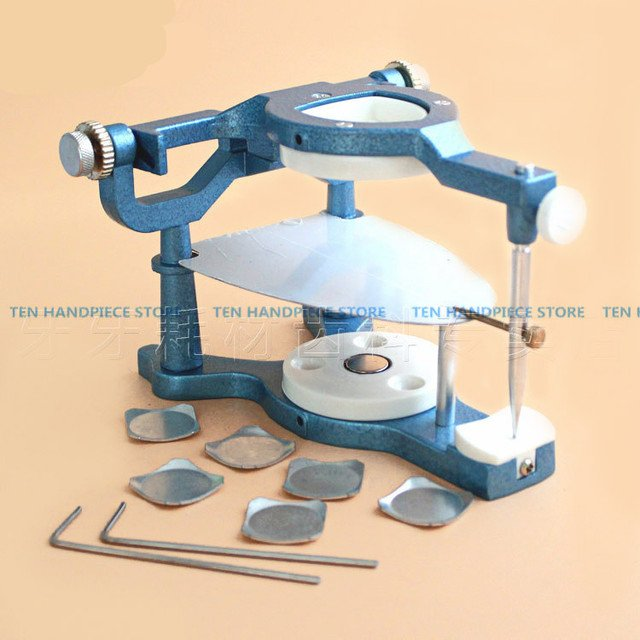2018 1 Pieces Dental Laboratory Equipment Big Size Silvery Alloy Articulators Adjustable Denture Magnetic Anatomic Articulator