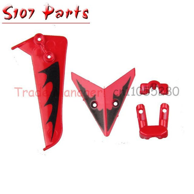 wholesale 5 Set Tail Decoration Fin S107-03 For SYMA S107G 3CH Gyro S107 RC Helicopter Spare Parts