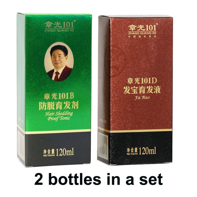 Wholesale Zhangguang 101 B + 101 D,  2 pieces in a lot Anti hair loss Hair Regrowth sets 100% original