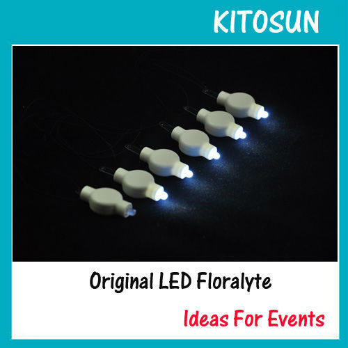 KITOSUN Factory in stock 100pcs in sale Cheap Battery Operated Hanging Led Floralyte Paper Lantern Lights