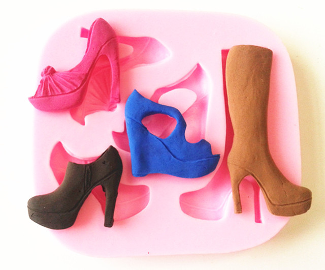 9234  Lady  High Heel Boots, Shoes Silicon  Mold,,Sugar Mold, Chocolate Mold, Cake Decoration Tool