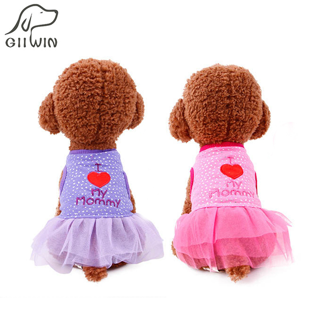[GIIWIN] dresses for dogs wedding dress dog clothes puppy outfit cheap dog clothes lace skirt summer dogs dresses chihli PY1047