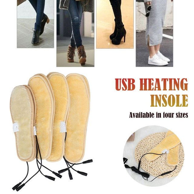 USB Warm Warmer Pads Shoe Electrothermal Insole for Skiing Winter Heater Insoles Battery Sock for Snow Dorpshipping